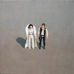 American Icon - Han and Leia 12x12 acrylic on paper