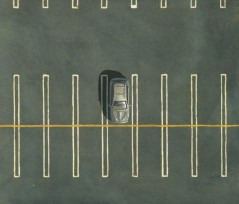 PL33 Parking Lot #33  8x9  WC & Gouache 2005