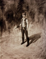 american-icon-han-solo-action-figure-17x22-charcoal-on-paper