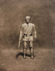 american-icon-luke-skywalker-action-figure-17x22-charcoal-on-paper