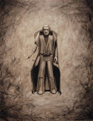american-icon-obi-wan-kenobi-action-figure-17x22-charcoal-on-paper