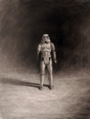 american-icon-storm-trooper-action-figure-17x22-charcoal-on-paper